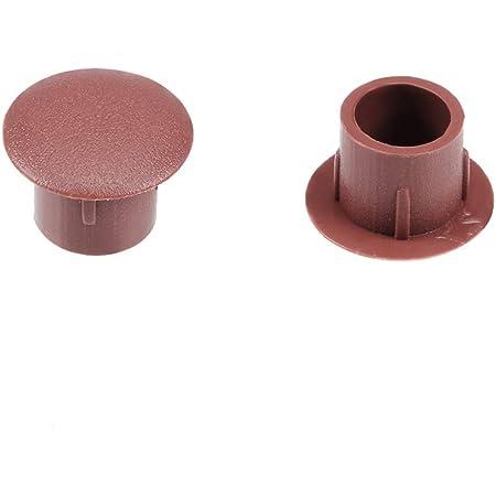 Couvercle vis 8Pcs 40mm diamètre trou verrouillage plastique blanc bouton