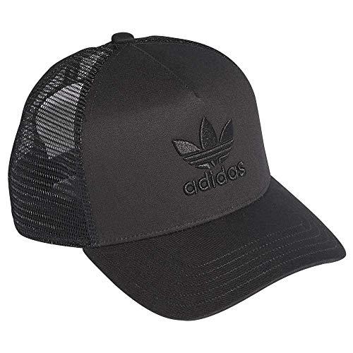 adidas Herren Aframe Trefoil Trucker Kappe, Black/Black, OSFC