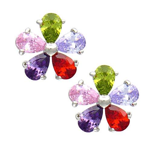 TEMPUS FUGIT. Pendientes de Bisutería con cristales de colores