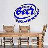 yaoxingfu Cerveza Artesanal Alcohol Wone Tapa de la Botella Pegatinas de Pared...