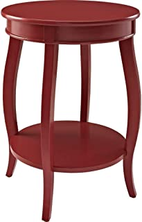 Powell Furniture Powell Round Shelf, Red Table