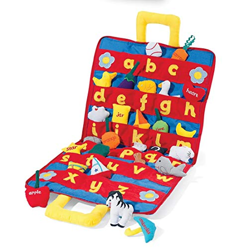 ABC Carrybag: Best Way to Learn Letters with Soft A-Z Objects & Soft Carry Case with Corresponding Pockets