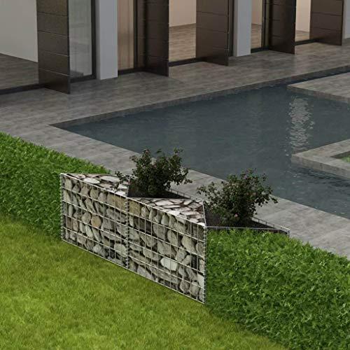 Binzhoueushopping Gabion cages pour conserver Wall-gabion Panier/pot de fleurs/légumes surélevé Lit en acier 150 x 30 x 50 cm