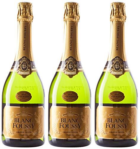 BLANC FOUSSY GRANDE CUVEE Touraine Vins Mousseux Demi Sec 750 ml - Lot de 3