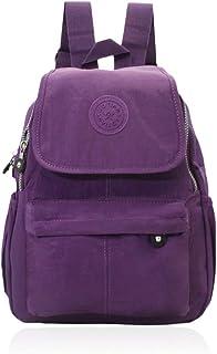 EGOGO Mujer Casual Mochila Impermeable Mini Mochila Nailon para Escolares, Deportes y Libre Ocio E5304 (Púrpura)