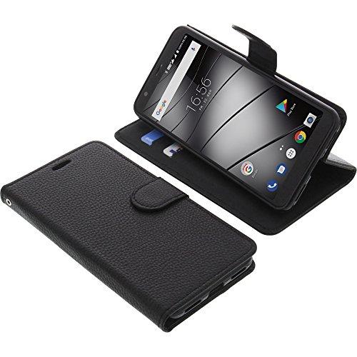 foto-kontor Tasche für Gigaset GS370 / GS370 Plus Book Style schwarz Schutz Hülle Buch