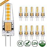 Kohree G4 LED Bombilla, 10pcs, 2W 12V,Equivalente a Halógena 20W, Blanco Cálido, AC/DC 12V, Bombilla de luz 360 °