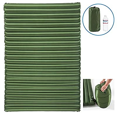 Sleepads Double Sleeping Pad - Inflatable Camping Air Mattress - Light and Compact - for Backpacking, Self-Driving Tour, Hiking, Tent