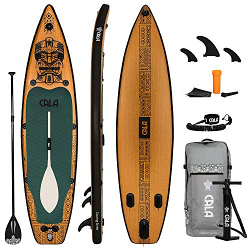 CALA Kanaloa Stand Up Paddling Board aufblasbares SUP Board Set, Surfboard Komplettes Zubehör Paddel, Reparatur Kit, Pumpe, Reise-Rucksack, abnehmbare Finne, Ventil und Kappe