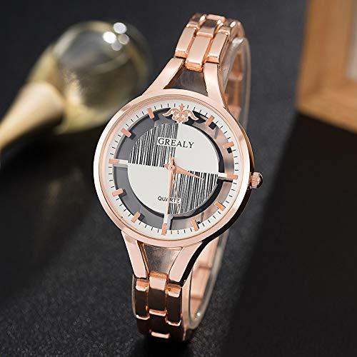 TCEPFS Uhr Frauen Smart Dress Armbanduhren Design Mini Kamera Uhr mit für Damen PinkRose