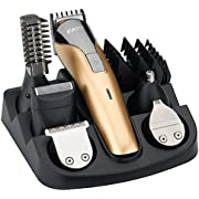 FARI Beard Trimmer Hair Clipper All in 1 Man's Grooming Kit Facial Nose and Head Haircut Trimming, Rechargeable Mustache Trimmers Shaver Suit Hair Cutter with Fast Charge