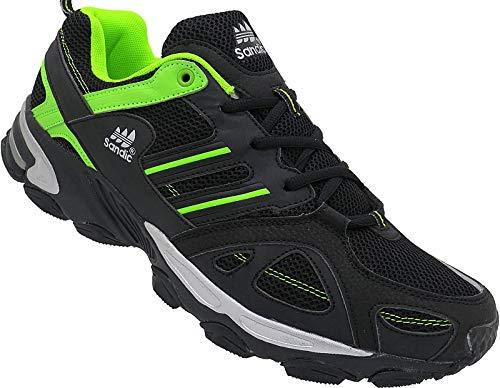 Herren Sportschuhe Sneaker Turnschuhe Schuhe gr.41-46 nr.1326 schwarz-grün (42)