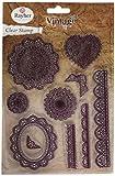 Rayher 58174000 - Timbri Decorativi, Stile Vintage in Pizzo, Circa 2-12,5 cm