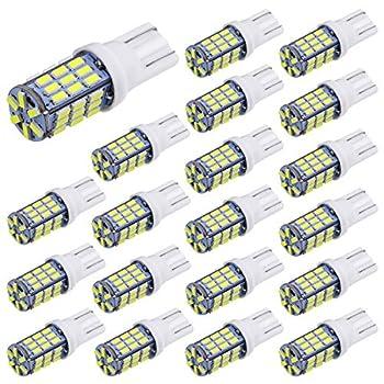 Aucan 20pcs Super Bright RV Trailer T10 921 194 42-SMD 12V Car Backup Reverse LED Lights Bulbs Light Width Lamp Xenon White