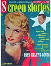 SCREEN STORIES magazine September 1955 Janet Leigh cover. Inside articles and photos include BLOOD ALLEY with John Wayne, Van Johnson with Olivia De Havilland, John Daly with Bob Hope, 1/2 page ad for TO CATCH A THIEF with Grace Kelly and Cary Grant. Cover has fold mark. All magazines shipped in a protective-archival sleeve.