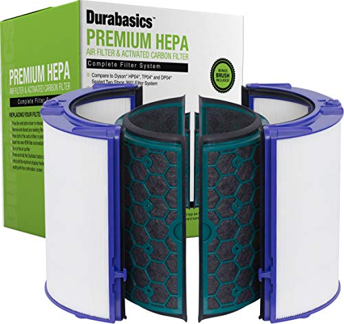 Durabasics TP04, HP04 & DP04 Compatible Dyson Filter Replacements for Dyson Air Purifier & Dyson Pure Cool Filter | Compatible Dyson Air Filter Replacement & Dyson Fan Filter for Dyson HP04 TP04 DP04
