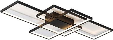LED Plafonnier Dimmable avec télécommande Moderne Cercle Rectangle Désign Lampe de plafond pour Salle de séjour Chambre à cou