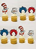 Dr Seuss Cat in the Hat Cupcake toppers/Dr...