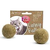Katzenminze Ball zum Spielen: 2x Premium Katzenminze Spielzeug für Katzen aus...