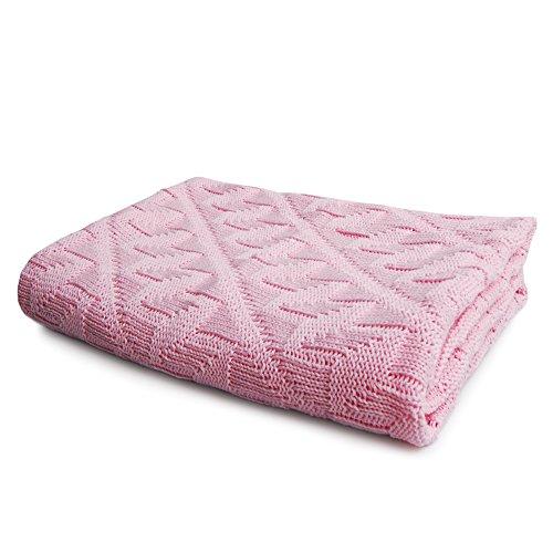 SonnenStrick 0742128908836 eerste deken/babydeken/knuffeldeken/gebreide deken, roze