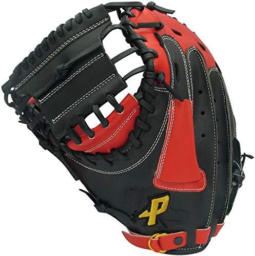 サクライ貿易(SAKURAI) PROMARK(プロマーク) 一般ソフトボール用グローブ 捕手・一塁手用 親指革命 3号球用 PCMS-4823RH ブラック×レッドオレンジ