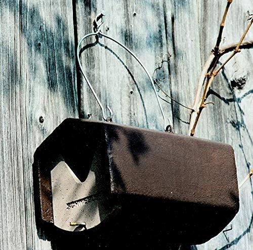Schwegler Naturschutzprodukt 2 Vögel Nistkästen Nisthöhle Vogelhöhle Halbhöhle Typ 2HW räubersicher aus Holzbeton Höhe 20 cm Satz 2 Stück