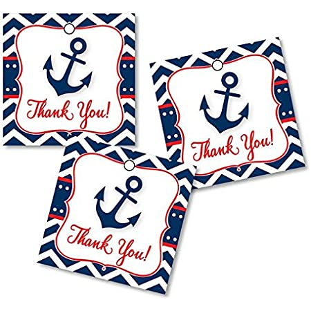 Thank You Tags Personalized Wedding Favor Tags Pennant Favor Tags Elegant Favor Tags-Set of 50