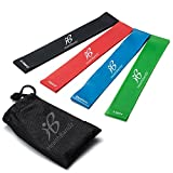 Resistance Loop Bands - Set of 4 Fitness Elastic Bands for Workout or Physical Therapy