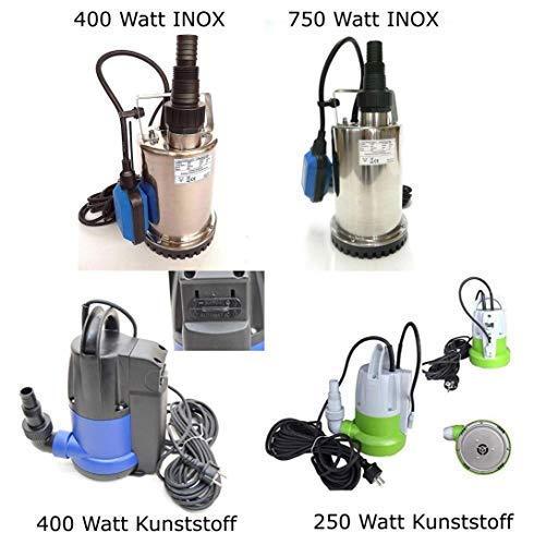 Automatische vlakzuigende pompen in verschillende uitvoeringen van 250-750 watt, debiet van 6000-11000 l/h van kunststof of roestvrij staal INOX. vlakzuiger, kelpomp, zwembadpomp. 250 Watt Kunststoff