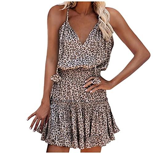 Kobiety sukienka letnie sukienki sukienka midi z dekoltem w szpic elegancka sukienka plażowa bez rękawów kwiatowy nadruk wzburzyć sukienki na co dzień dziewczęce letnie luźne sukienki boho