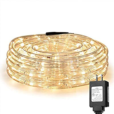 LE 33ft 240 LED Rope Lights, Waterproof, Connectable, Low Voltage