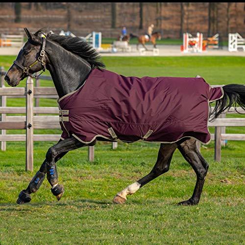 Horseware Amigo Hero Ripstop 100g Weichen Teppich 115cm Fig/Navy & Tan