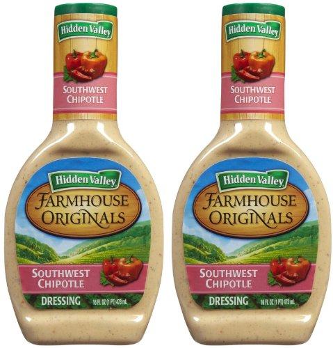 Hidden Valley Farmhouse Originals Salad Dressing & Dip-Southwest Chipotle, 16 oz, 2 pk