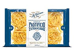 """Extra di lusso egg pasta Nest shape - Tagliatelle Made in Italy The package dimension of the product is 6""""L x 5""""W x 4""""H"""