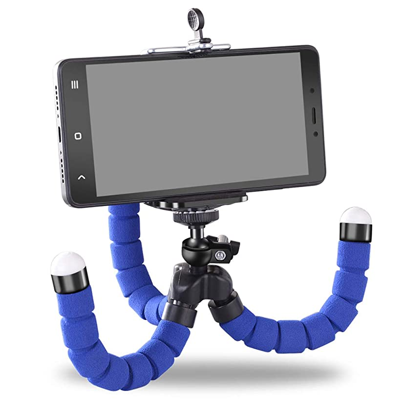 Hai Yan Mobile Phone Holder Phone Holder - Flexible Octopus Tripod Bracket Selfie Expanding Stand Mount Monopod Styling Accessories for Mobile Phone Camera (Color : Blue)