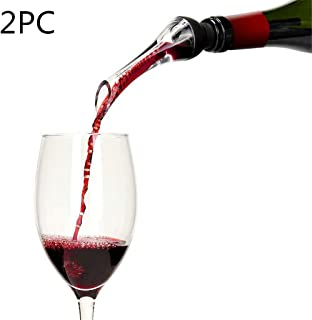 Transser Wine Aerator Pourer, Wine Air Aerator Set, Premium Aerating Pourer Wine Pouring Device, Gift Box Included (2PC)