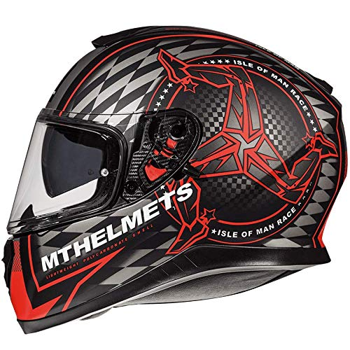 Casco Mt Thunder 3 Sv Isle of Man B5 Fluor Rojo (M