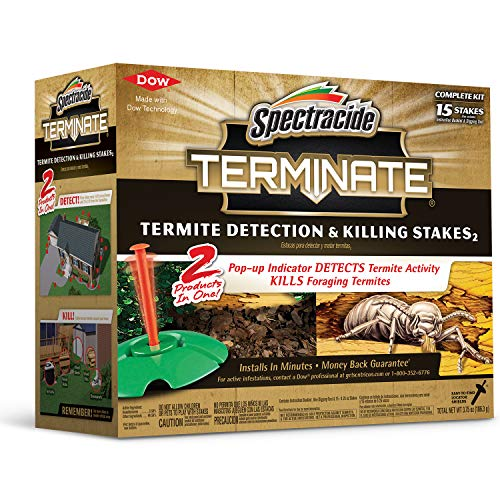 Spectracide 96115 Terminate Termite Detection and Killing Stakes 15 Count, W