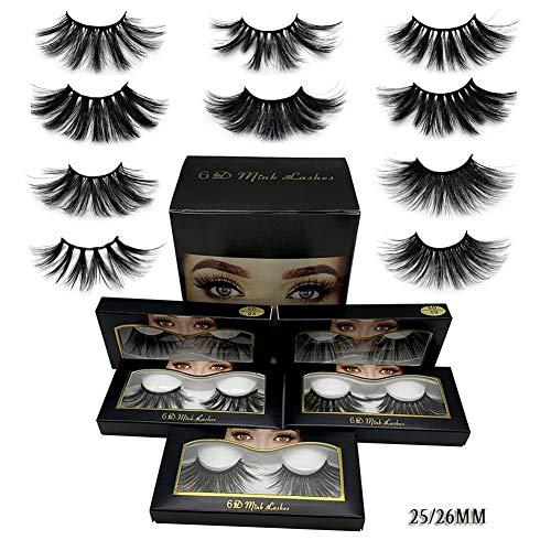 Faux-cils Eyelashes 3D Cils Fausses Réutilisables sans Colle Naturels à la Main Ultra Minces Naturel Noir 25 mm Extension de Cils Curl Individuels3