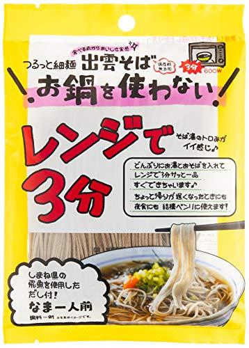 本田商店 レンジで3分 細麺 出雲そば1人前飛魚つゆ付 99g ×12袋