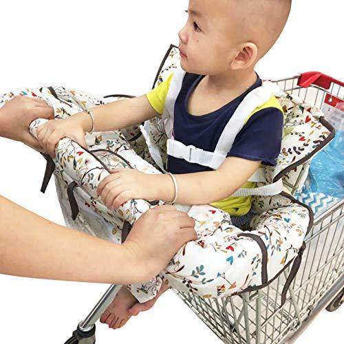 PERFECTHA Cojines de Protector de Cesta de Compra Fundas para AsientoSupermercado Bolsa de Almacenaje Multifuncional para el Carro de la Trona le Ofrece Higiene y Seguridad a su Bebé Here