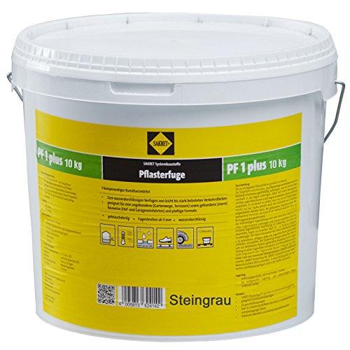Sakret Pflasterfugenmörtel PF1 Plus Steingrau 10kg Kunstharzmörtel 1 K