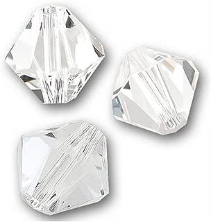 200pcs 4mm Adabele Austrian Small Bicone Crystal Beads Crystal Clear Compatible with Swarovski Crystals Preciosa 5301/5328 SSB401
