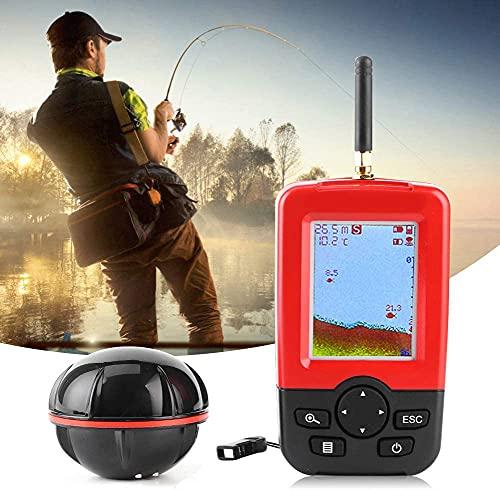 YONIISEA PortáTil InaláMbrica Buscador, PortáTil Sonar Sensor de Pescado Alarma Profundidad Buscador Eecosonda Utilizado para EA Pesca en Barco Pesca en el Mar Pesca al Aire Libre Pesca en Kayak