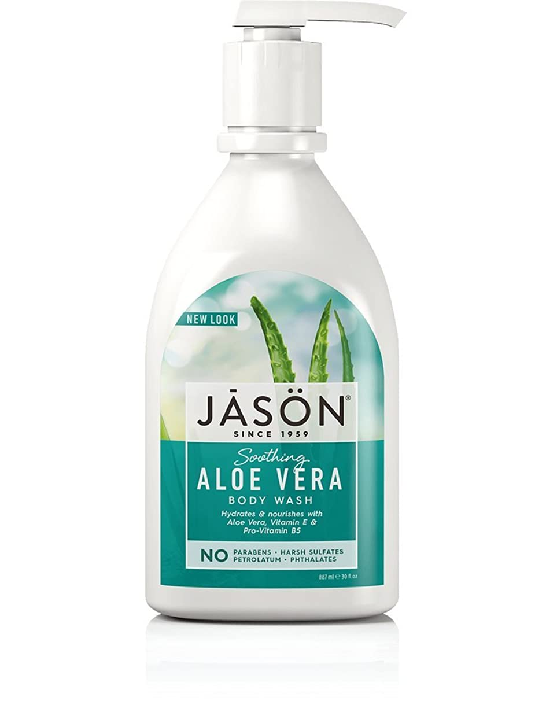 接続された抑圧する解体する海外直送品Body Wash Satin, Aloe Vera 30 FL Oz by Jason Natural Products