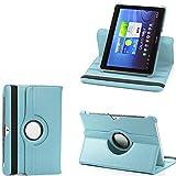 Galaxy Tab 2 10.1 Case, PT Rotating Stand Case For Samsung Galaxy Tab 2 10.1 P5100 P7510 Tablet [Auto Sleep/Wake] - Skyblue