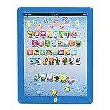 Tabletas educativas para estudiar la máquina de aprendizaje, pantalla táctil, número alfabeto, tableta de aprendizaje temprano, juguete educativo para niños pequeños, envío rápido (azul)