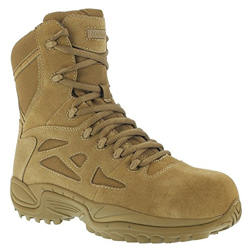 "Reebok Work Rapid Response RB 8"" Composite Toe Men's Boot (9 M US, Coyote)"