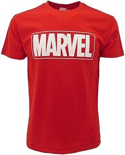 Marvel - Camiseta con Logotipo Oficial de cómics, Color Rojo