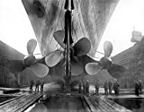 The RMS Titanic???s propellers as the mighty ship sits in dry dock Print Type Paper Size: 8.00 x 10.00 inches Licensor: Posterazzi